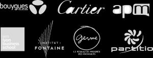 Bouygues Télécom, Cartier, apm, em lyon business shool, Institut Fontaine, Germe, paritio