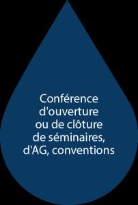 Conférence d'ouverture ou de clôture de séminaires,d'AG, conventions